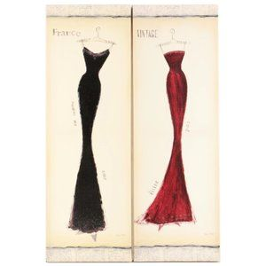 French Dress Canvas Wall Art Duo Bundle